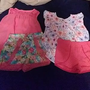 Toddler girls summer outfits (2) size 5T nwt